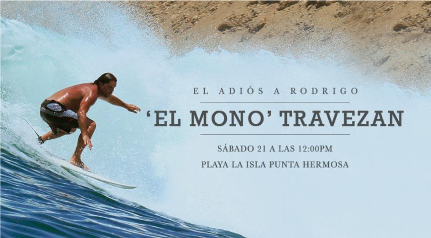 El adiós a Rodrigo 'El Mono' Travezan