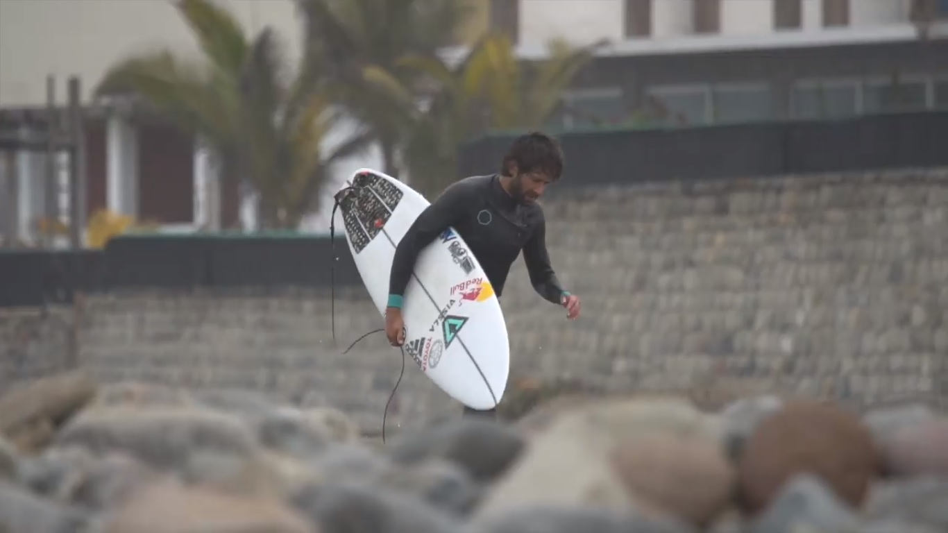 Gabriel Villarán agarrando ritmo en el Huayco