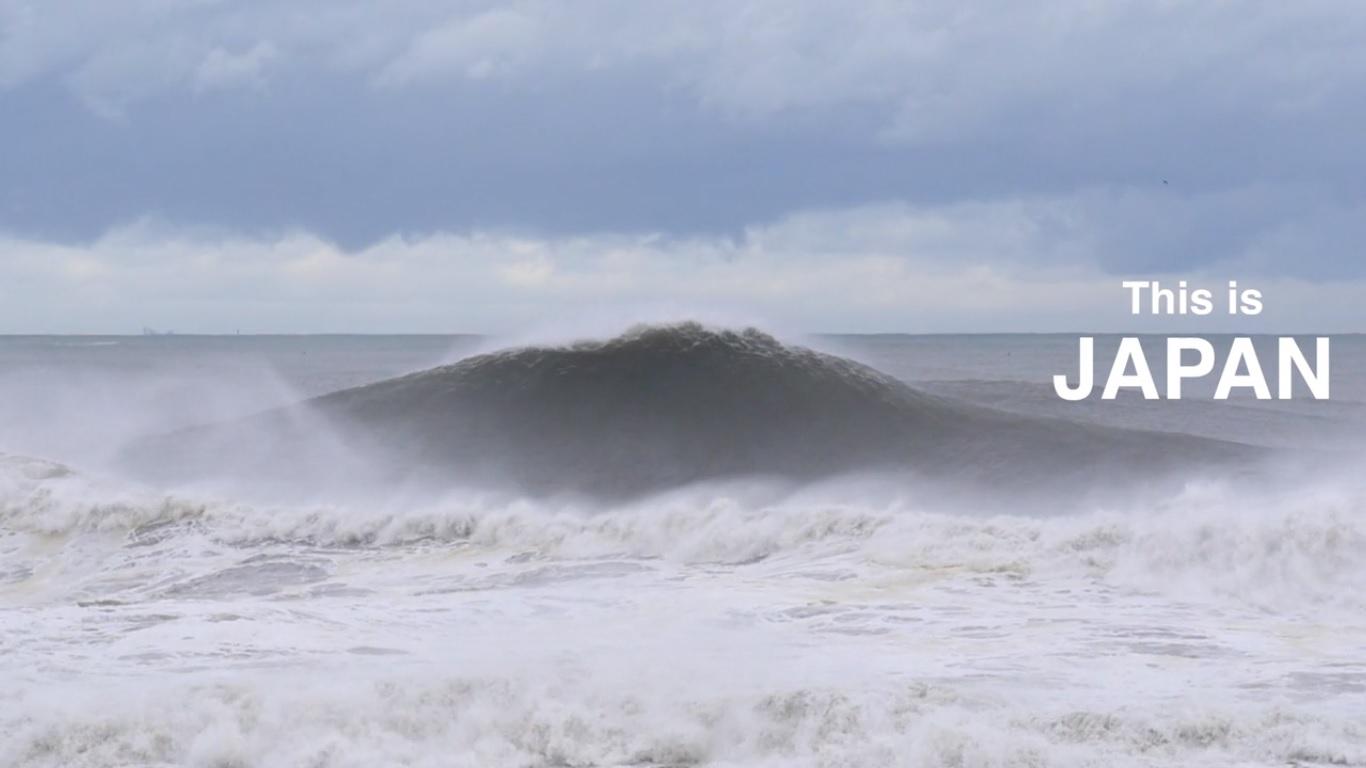 VIDEO: Así de monstruosas son las olas XXL en Japón