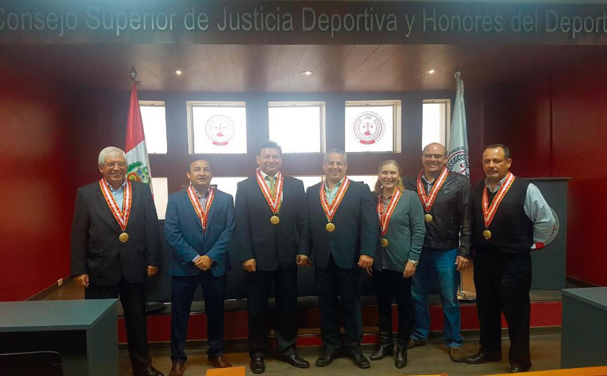 Jose Mario Escudero juramentó como vocal del Consejo Superior de Justicia Deportiva y Honores del Deporte del IPD