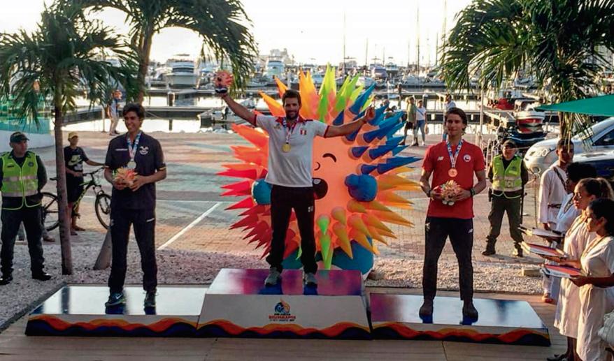 Stefano Peschiera y Adriana Barrón medallas de oro en Bolivarianos de Santa Marta (Colombia)