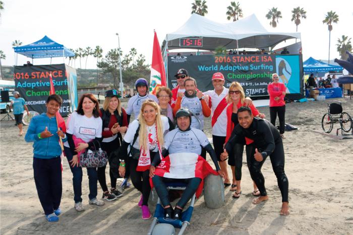 Con presencia peruana arrancó el Mundial de Surf Adaptado de la ISA 2017