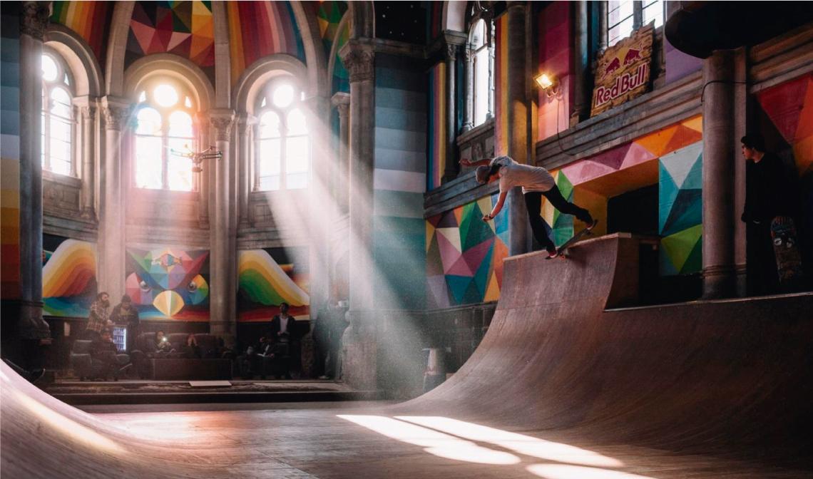 Así se transformó una iglesia en un templo del skate