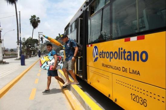 Atención tablista de a pie: por verano buses del Metropolitano te llevarán a la playa
