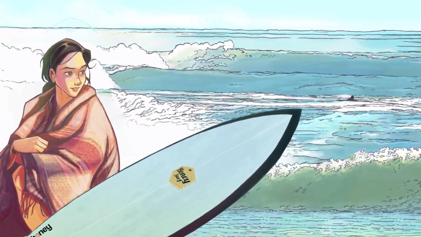 """""""Una Ola Lejana"""", el comic digital de surf que busca auspiciadores"""