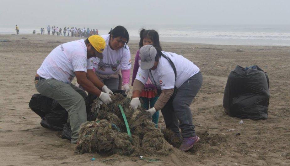 Más de 2 toneladas de basura marina fueron recolectadas en playas del norte