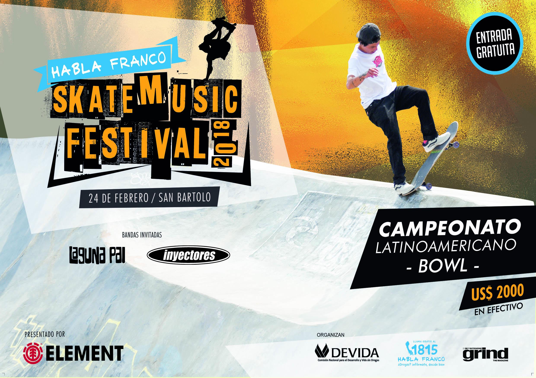 """Habla Franco"", festival de skate en San Bartolo"