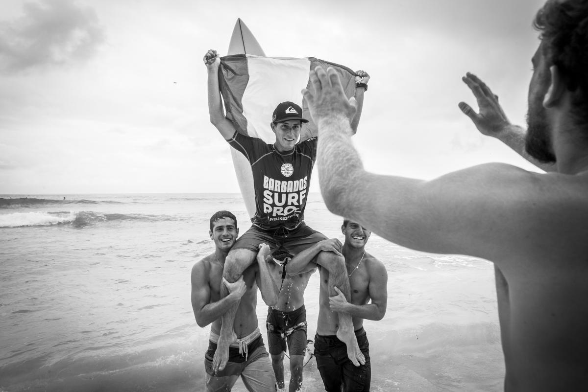 Lucca Mesinas y su gran victoria en el WQS 3000 Barbados Surf Pro