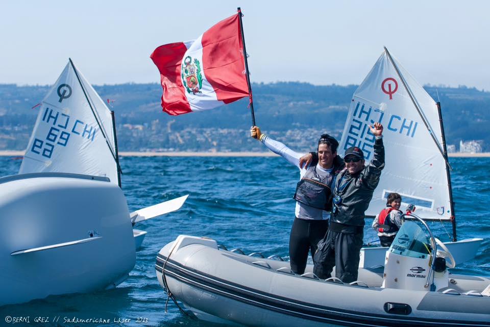 Stefano Peschiera a la final de la Copa del Mundo en vela