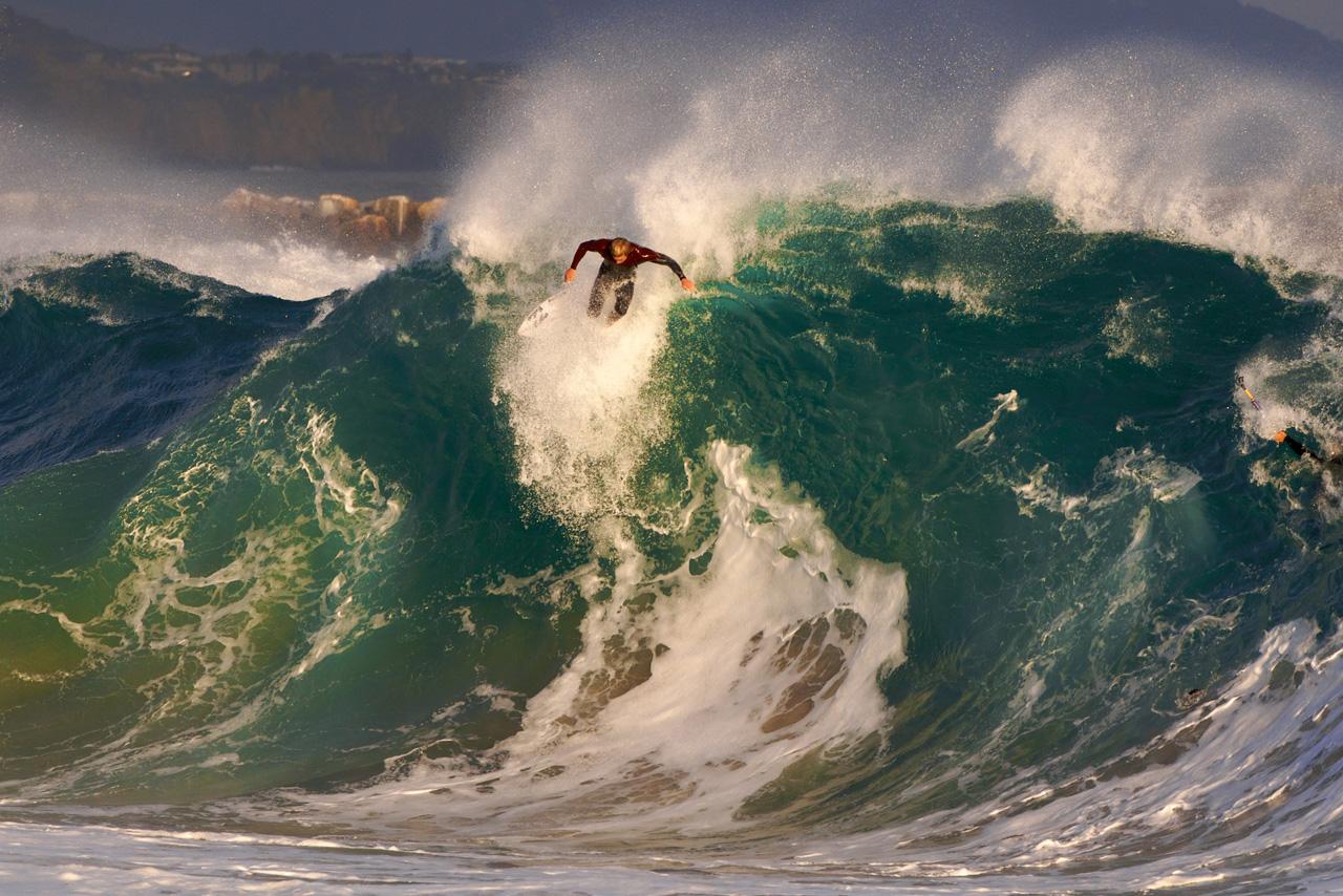 La ola más asesina de California a todo pulmón hace unos días