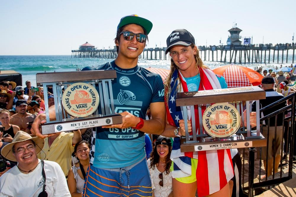 Kanoa Igarashi y Courtney Conlogue se apoderan del US Open