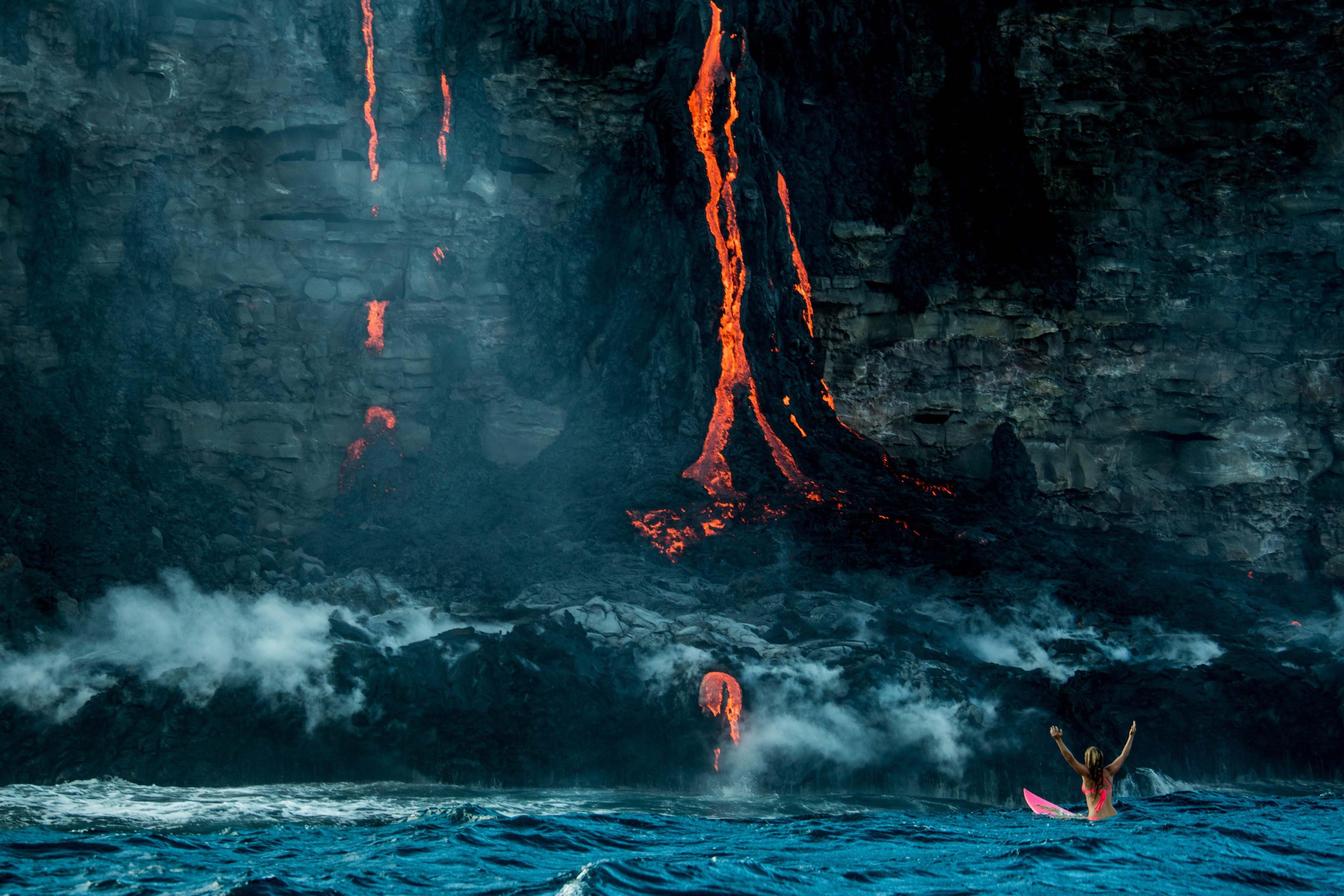 Lava consume surf spots en Hawaii