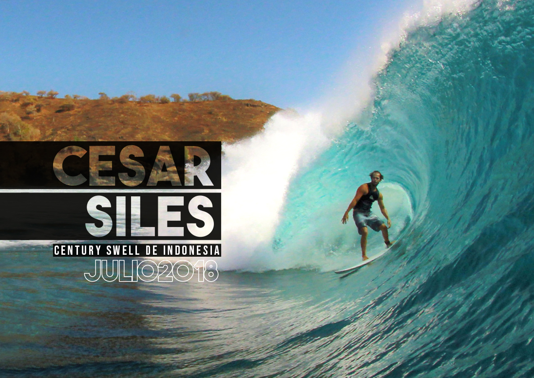 Cesar Siles en el Century Swell de Indo - Julio 2018