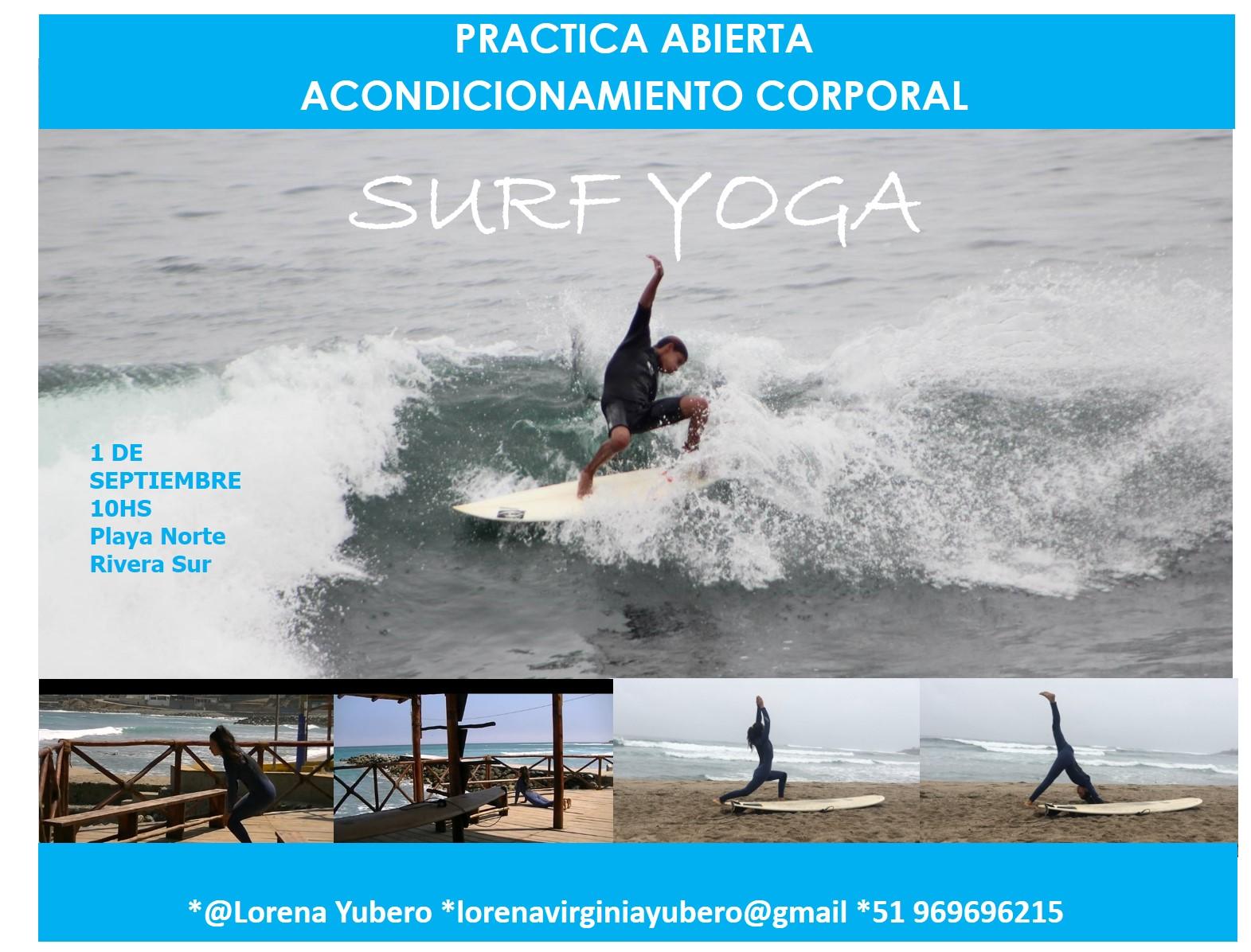 Clase abierta de acondicionamiento corporal para la práctica de surf-yoga