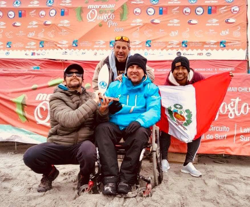Pancho Arbulú campeón de Surf Adapatado en Chile