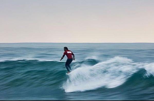 Piccolo Clemente y María Fernanda Reyes en el Surf Relik