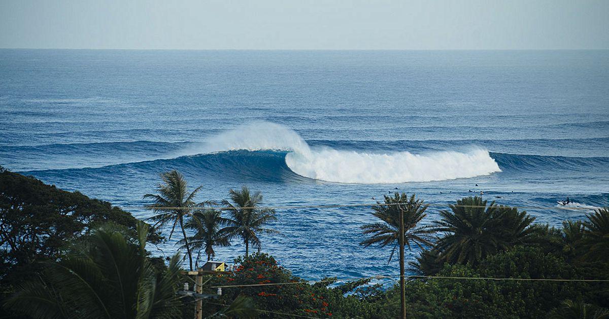 Así se puso Sunset Beach este miércoles