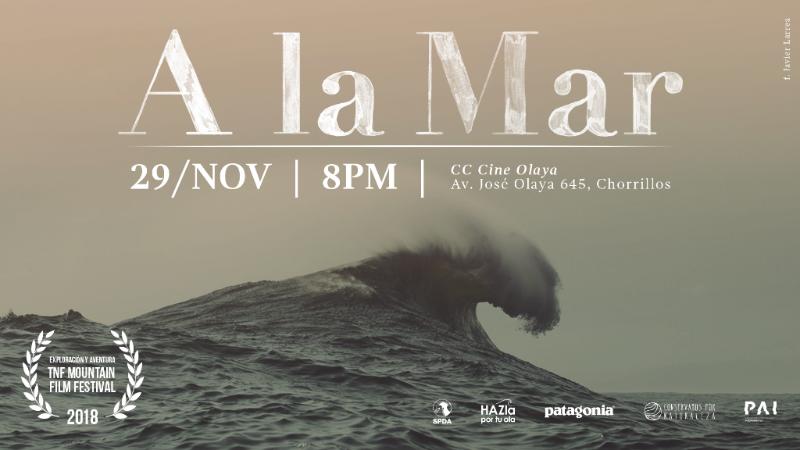 """Conservamos por Naturaleza y Cine Olaya te invitan a la proyección de  """"A la Mar"""""""