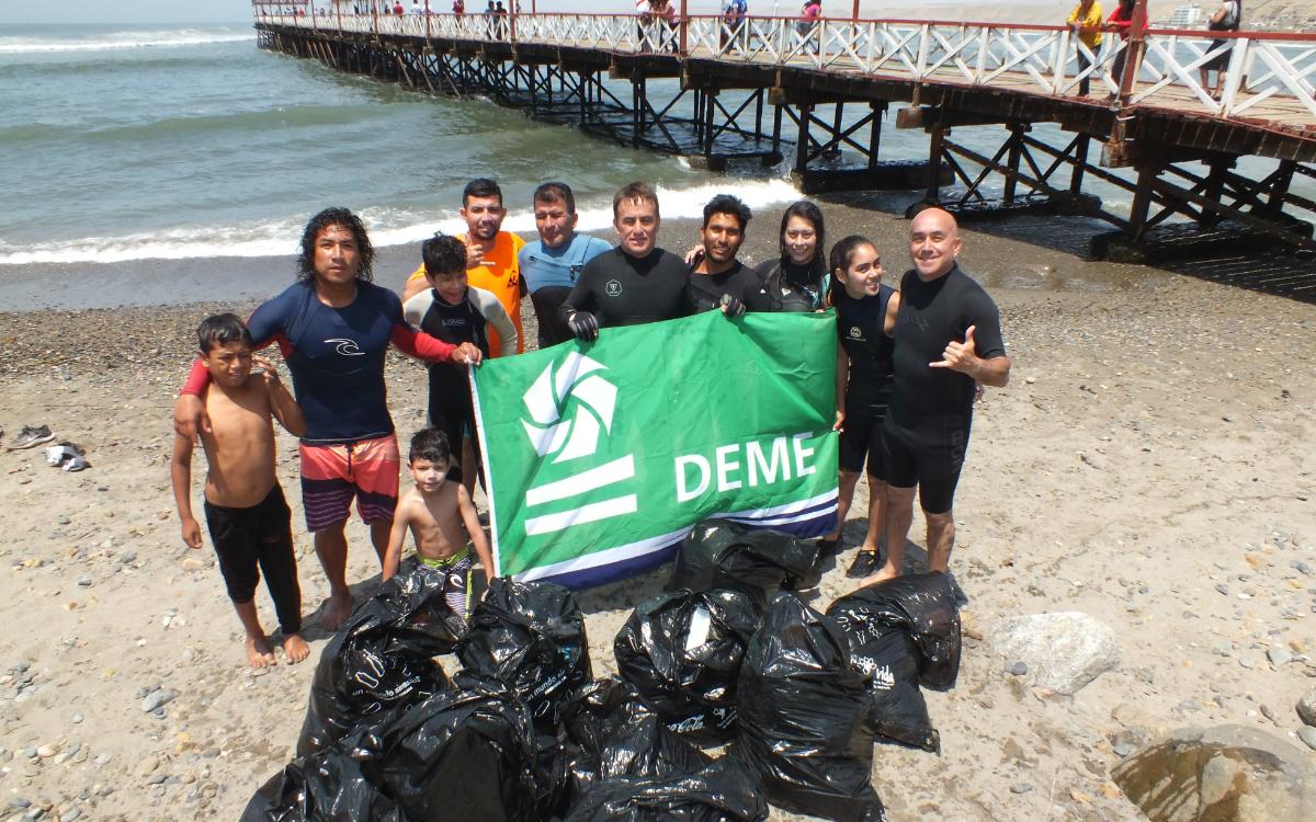 Más de 3 toneladas de basura fueron recogidos en Huanchaco