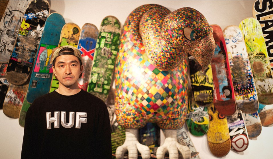 Esculturas con tablas de skate