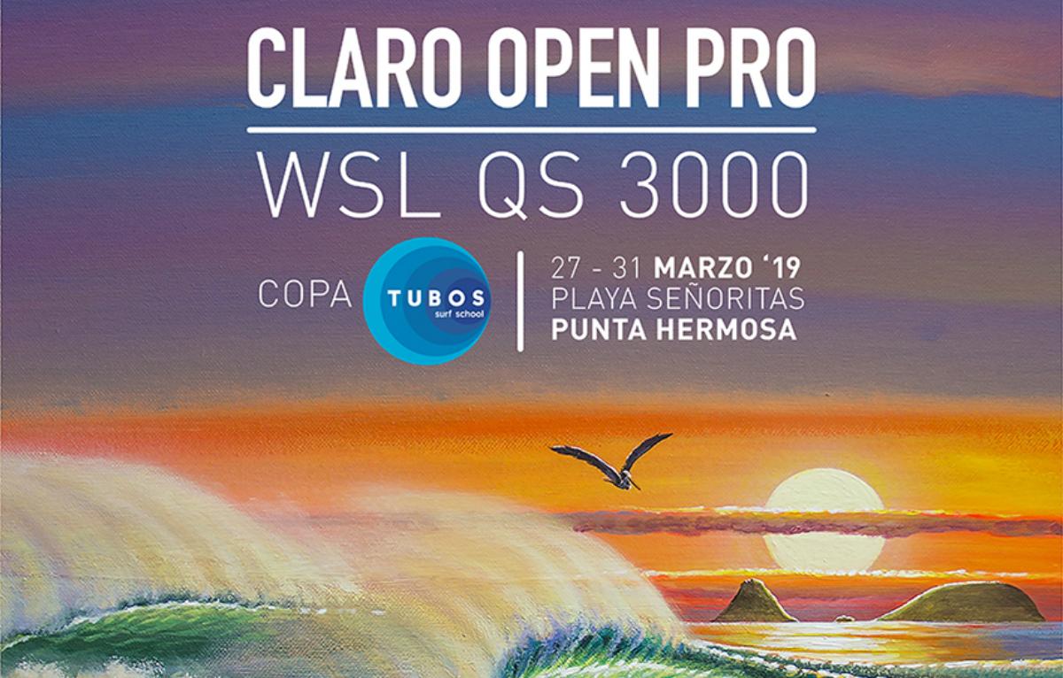 Surfistas de 21 países confirmados para el início del Claro Open Pro - Copa Tubos QS 3000 en Perú