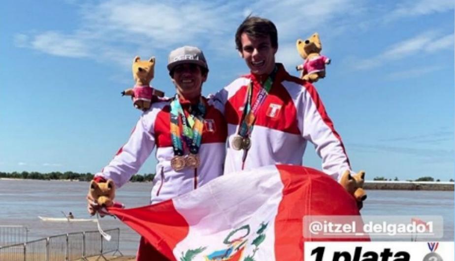 Itzel Delgado y Gianissa Vecco hicieron podio en Suramericano de Playa
