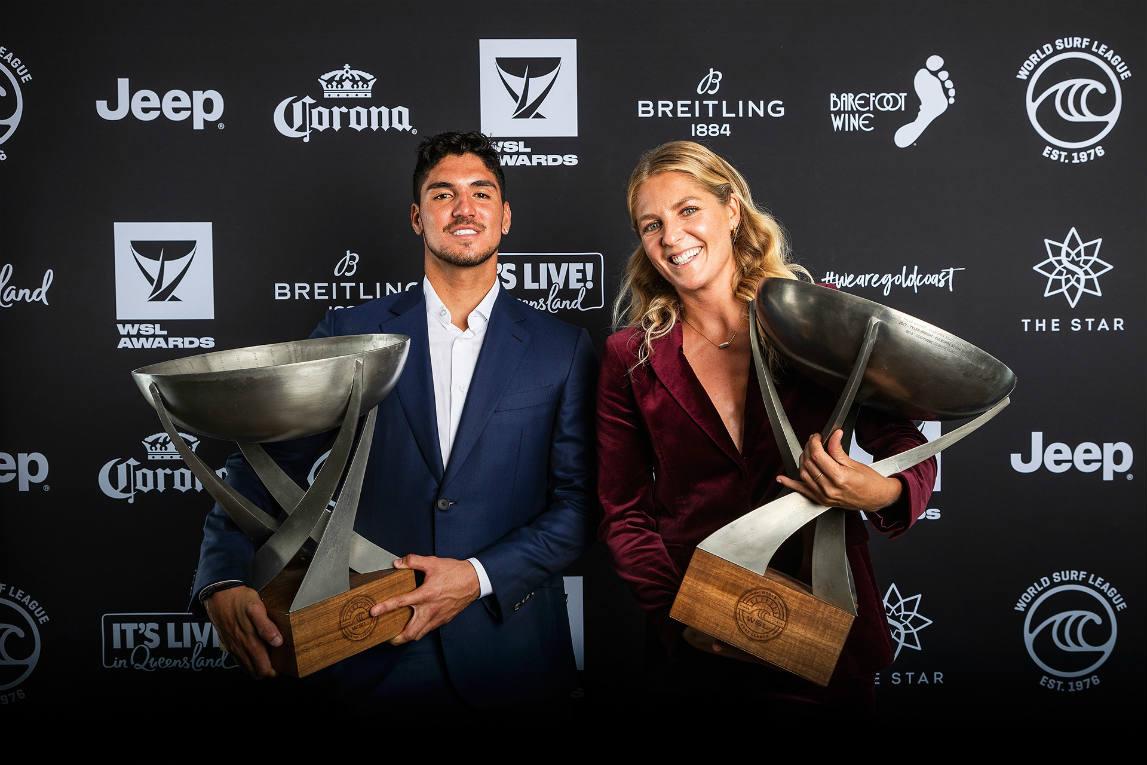 World Surf League premió lo mejor del 2018