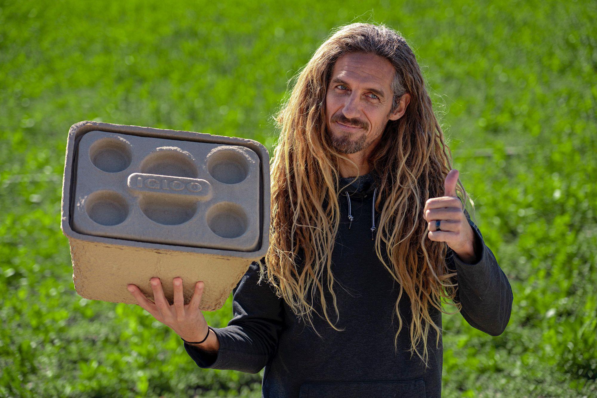 Rob Machado y el primer cooler biodegradable