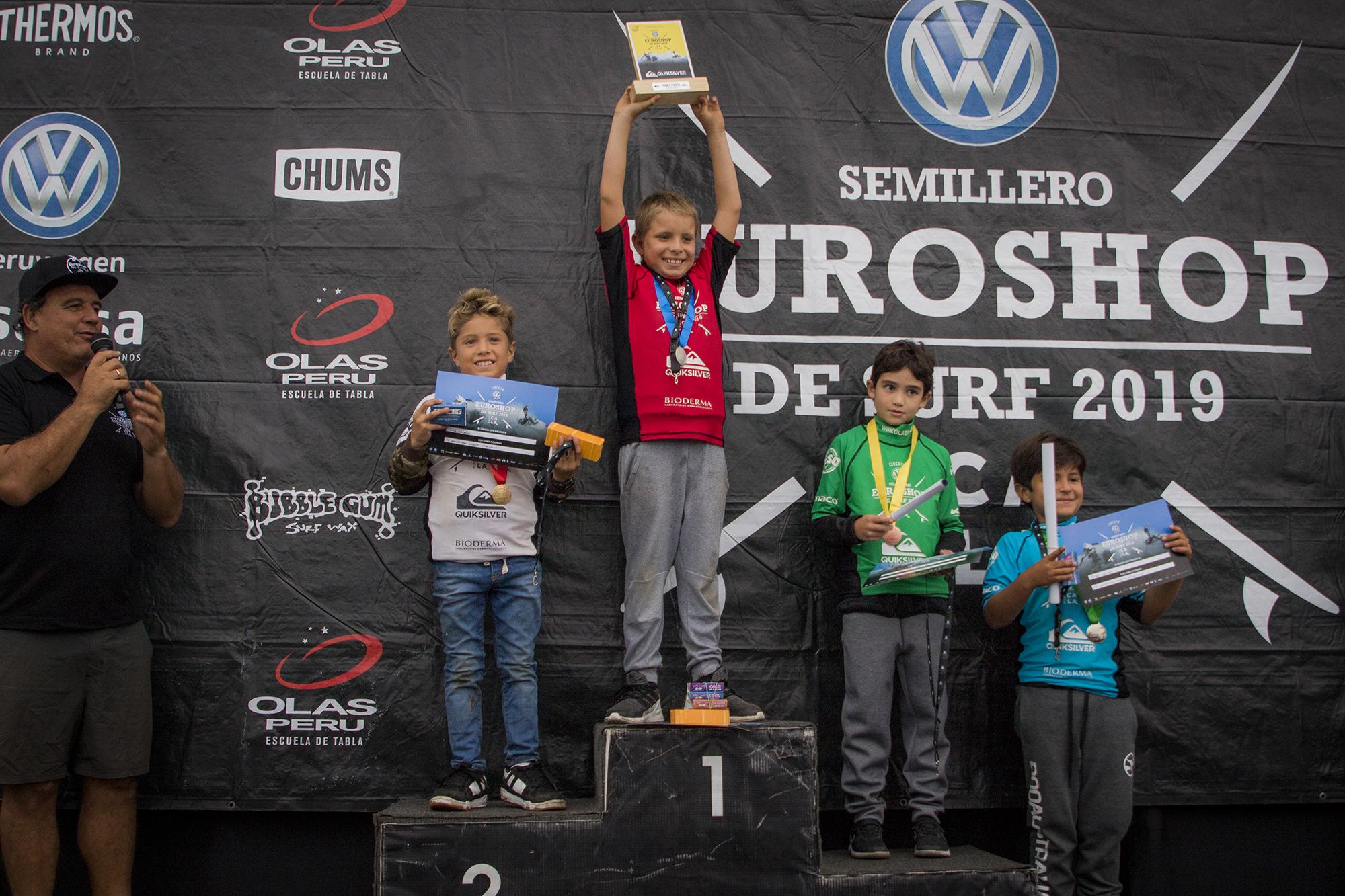 Barranquito coronó a los nuevos campeones del Semillero Euroshop de Surf 2019