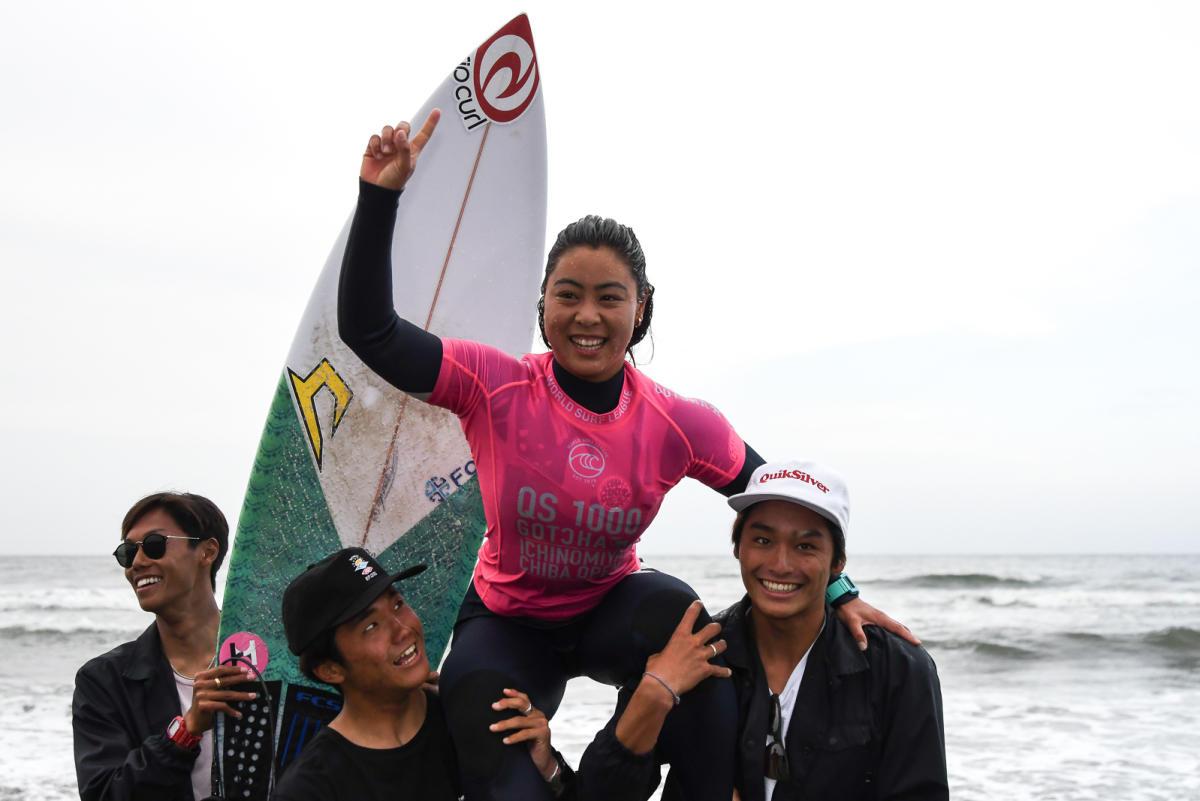 Japonesa Amuro Tsuzuki hace historia en el Galicia Classic Surf Pro