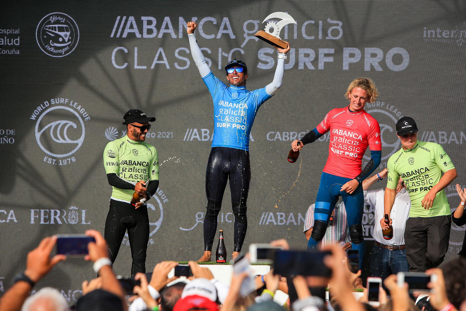 Miguel Pupo se proclama campeón en Galicia Classic Surf Pro