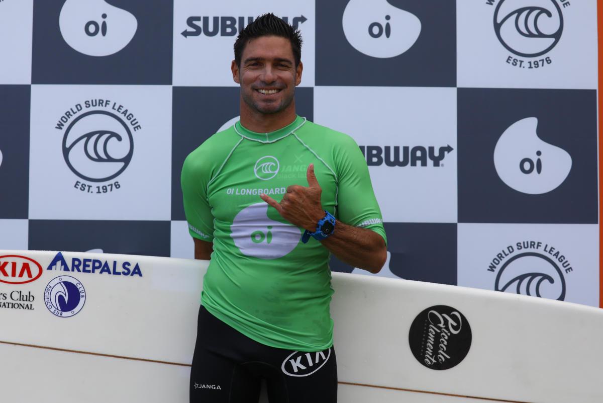 Piccolo Clemente se consagra por cuarta vez campeón sudamericano de longboard