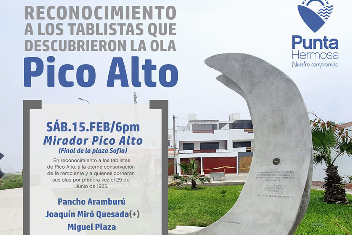 Descubridores de Pico Alto serán homenajeados en Punta Hermosa