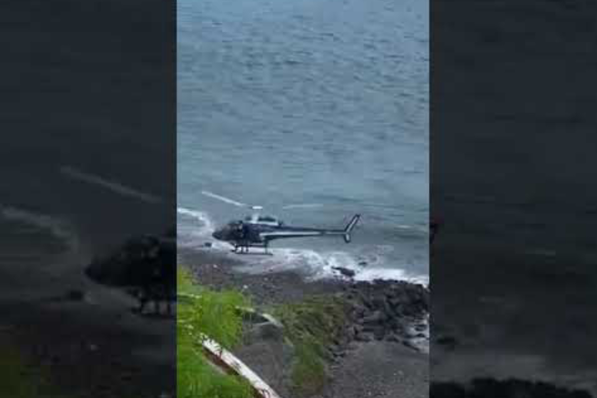 [VIDEO] Helicóptero persigue surfista que infringió cuarentena