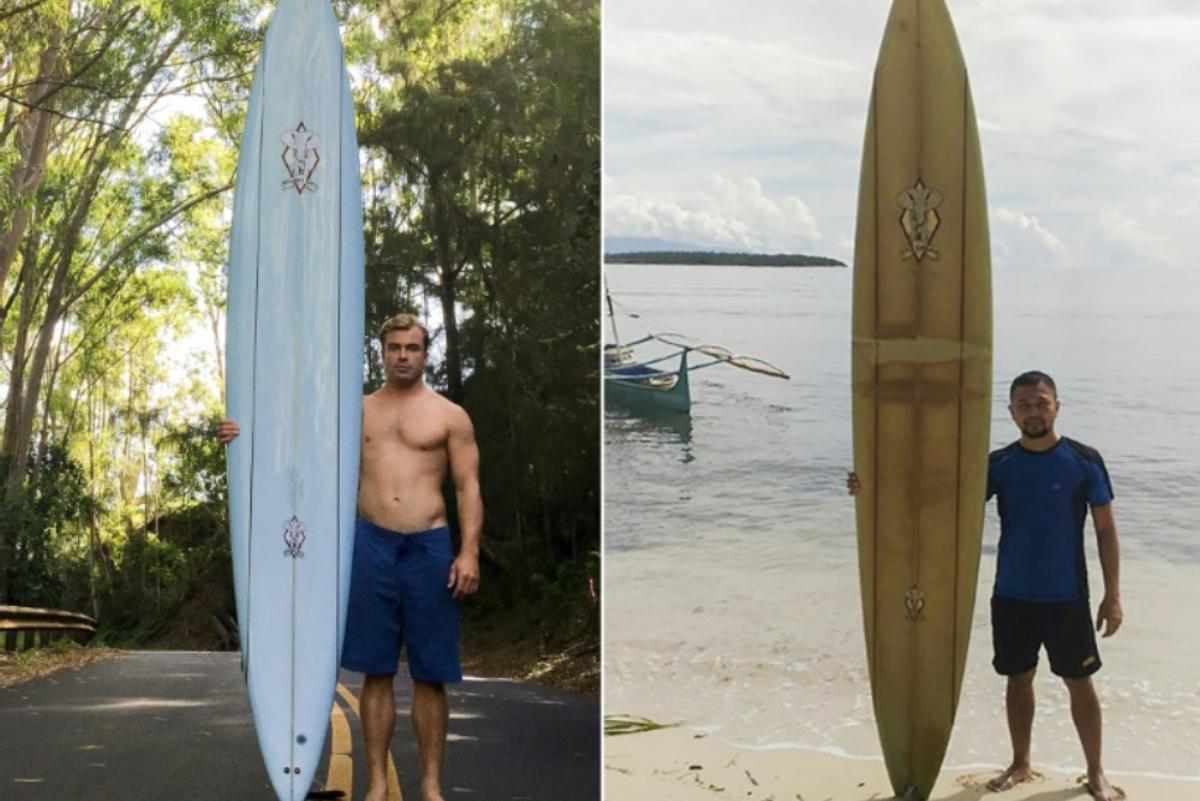 Surfista pierde su tabla en Hawái y dos años después aparece en Filipinas