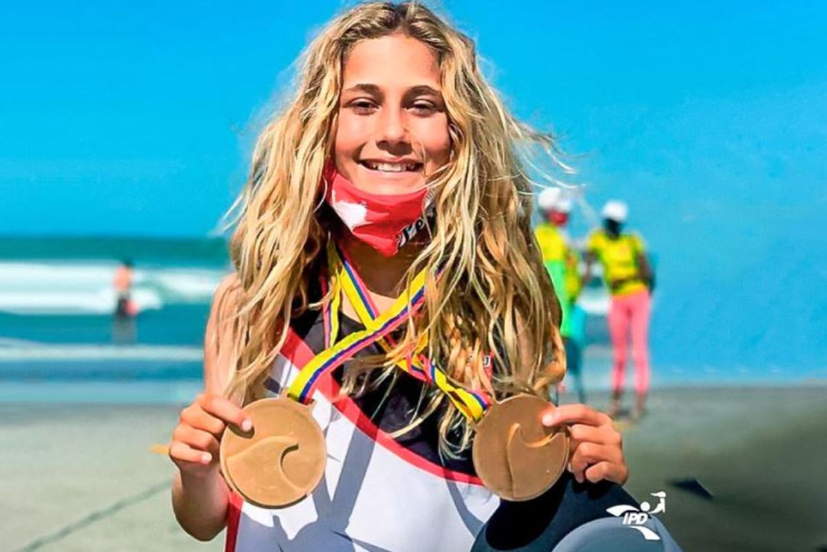 Catalina Zariquiey, la promesa del surfing peruano que la rompió en Sudamericano Infantil de Surf