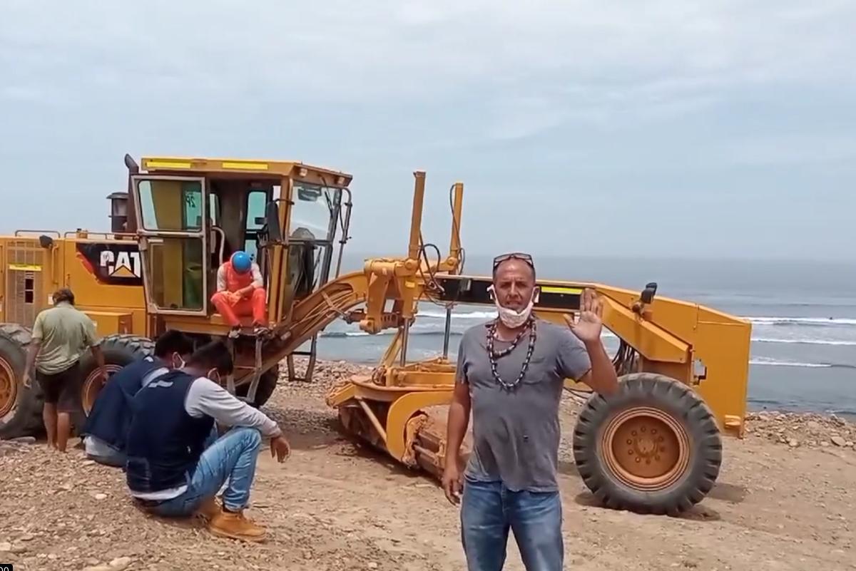 Denuncian destrucción de playa El Faro de Pacasmayo