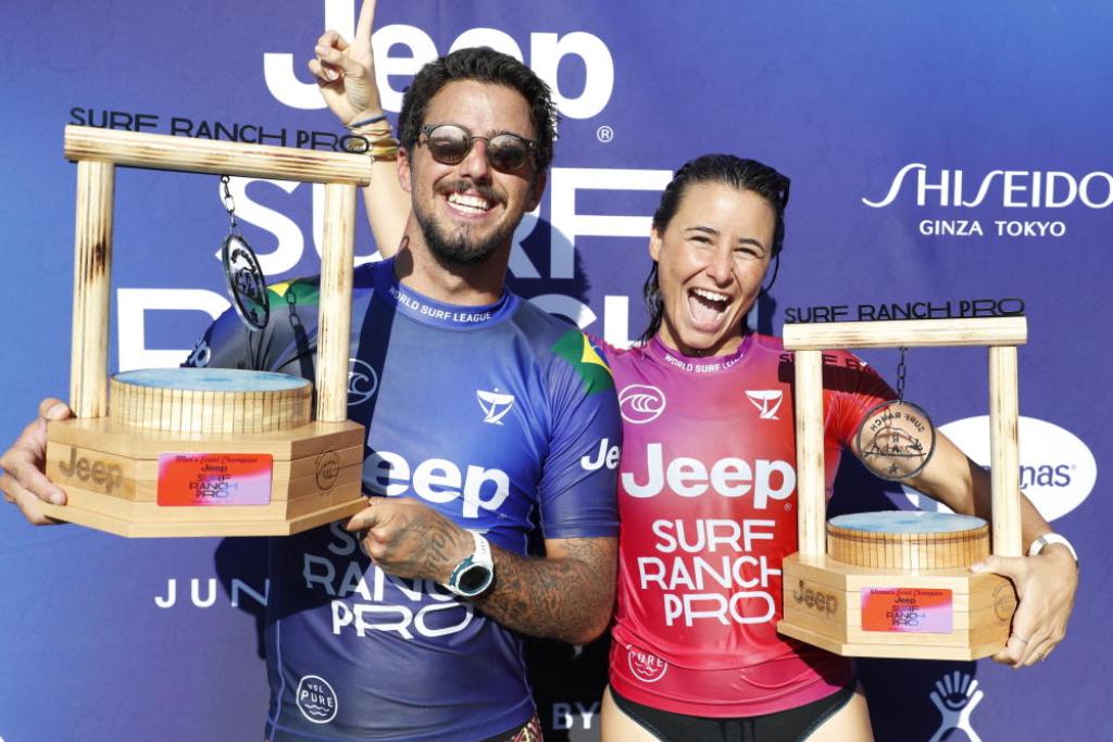 Filipe Toledo y Johanne Defay ganan en el Surf Ranch