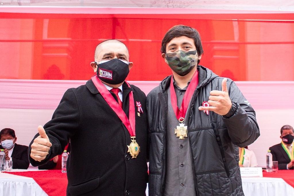 Miguel Rodríguez recibió medalla de la ciudad de Lurín por su trayectoria