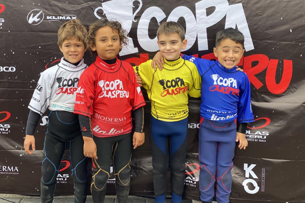 La Copa Olas Perú quedó en manos de los Mini Groms
