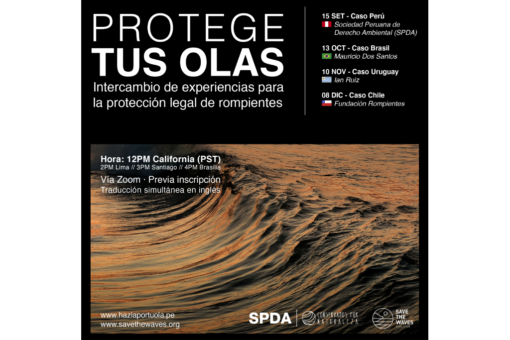 """""""Protege tus olas"""": Intercambio de experiencias para la protección legal de rompientes"""