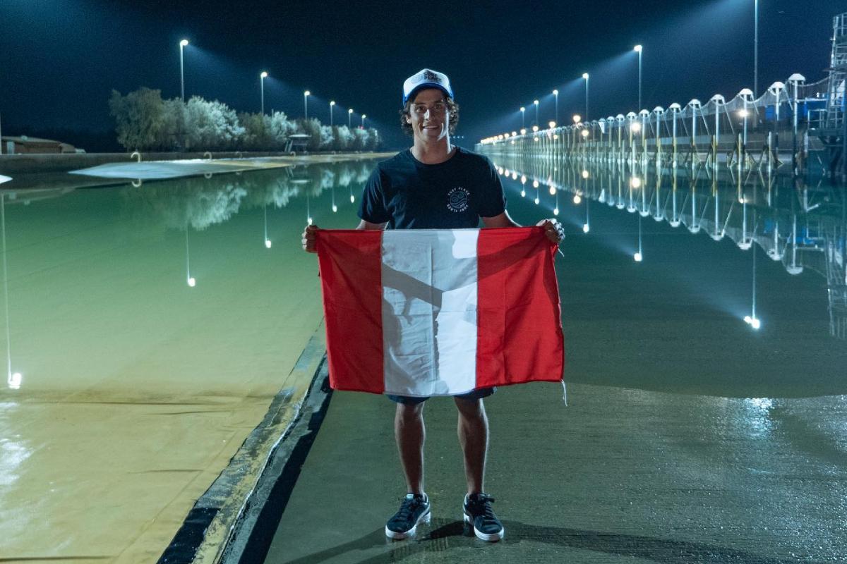 Lucas Garrido Lecca quinto del mundo en el Surf Ranch