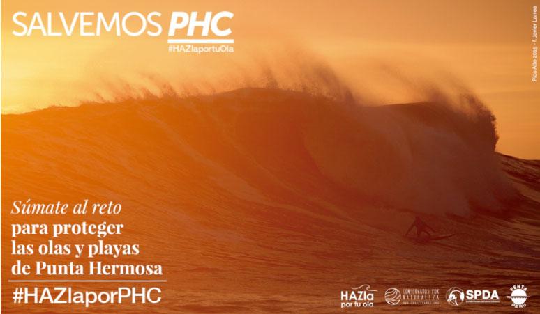 Súmate a la campaña y ayuda a proteger las olas de Punta Hermosa