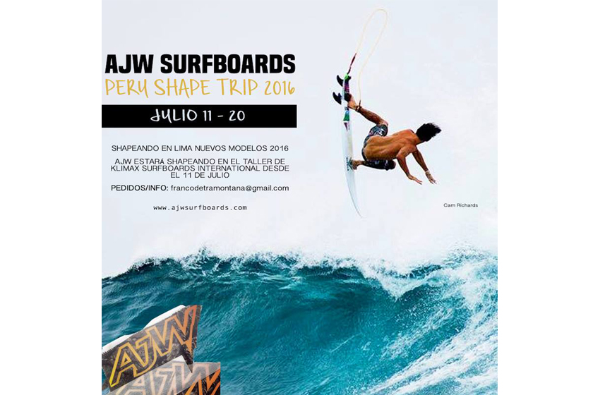 AJW Surfboards Shape Trip Perú 2016