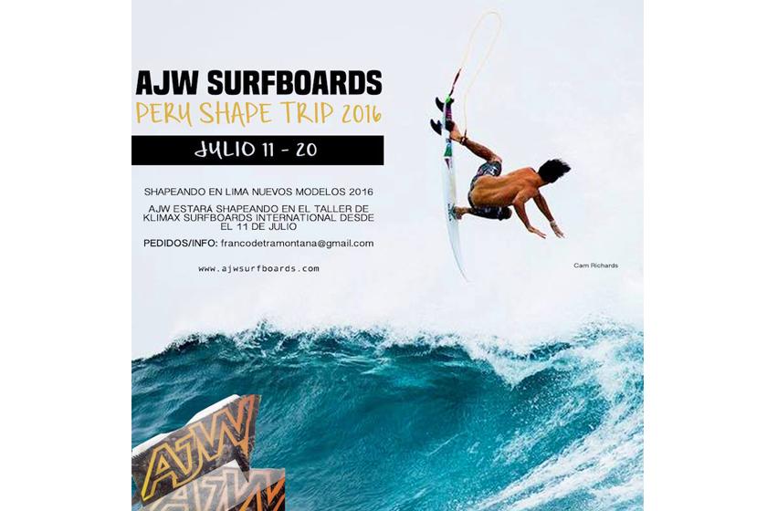 AJW Surfboards Shape Trip Perú 2016
