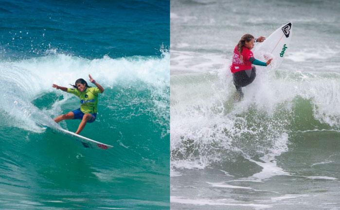 Sofía Mulanovich y Melanie Giunta en Los Cabos Open of Surf