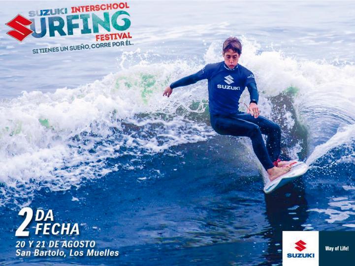 Este 20 de agosto Álvaro Malpartida regresa con el Susuki Interschool Surfing Festival