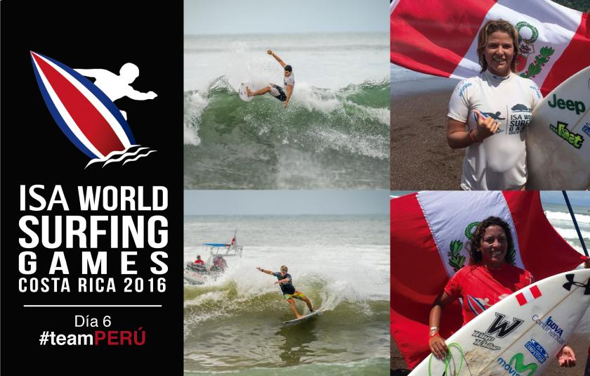Mundial de surf en su etapa final con Perú peleando el podio