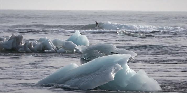 Surfeando entre icebergs