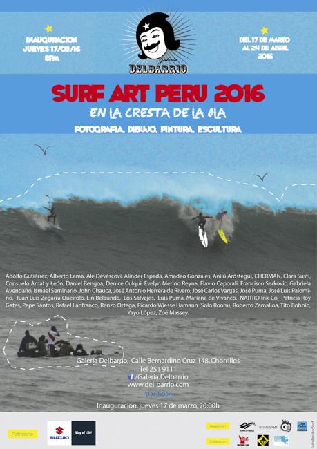 Inauguración Surf Art Perú 2016, En la cresta de la ola